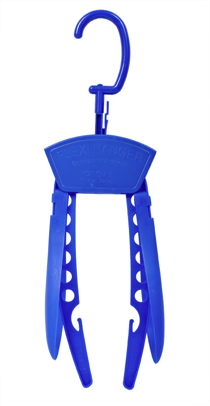 blauer Flexi-Hänger