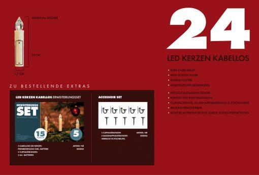 LED KErzen 24er Set