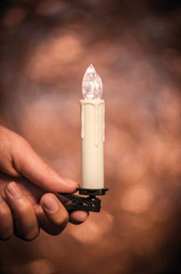 LED Kerze auf Clip