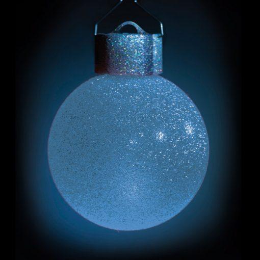 5 LED Dekokugeln mit Fernbedienung silber-glitzernd - ∅ 65mm-426