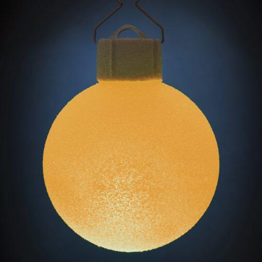 5 LED Dekokugeln mit Fernbedienung wachs-weiss - ∅ 65mm-439
