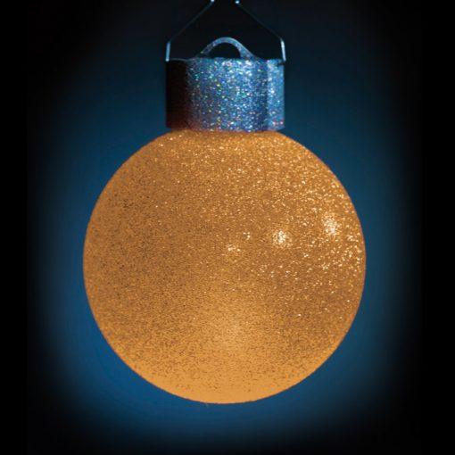 5 LED Dekokugeln mit Fernbedienung silber-glitzernd - ∅ 65mm-429