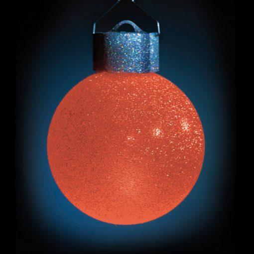 5 LED Dekokugeln mit Fernbedienung silber-glitzernd - ∅ 65mm-432