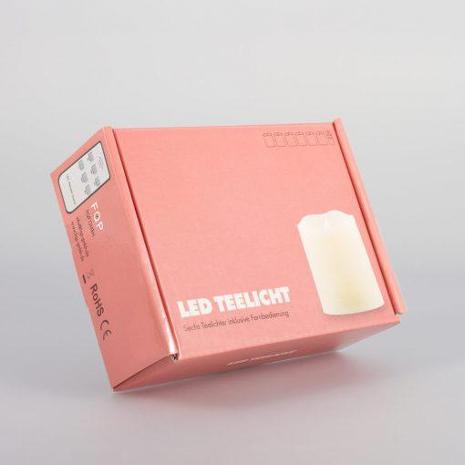 LED Teelichter 6er Set mit Fernbedienung-506