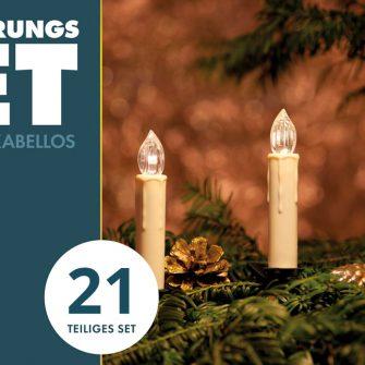 LED Weihnachtskerzen Set